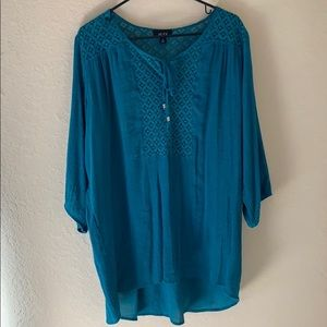 Beautiful Alyx teal blouse